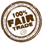 Moe Coffee - Best Coffee in Little Italy San Diego - 100 Percent Fair Trade Coffee Badge
